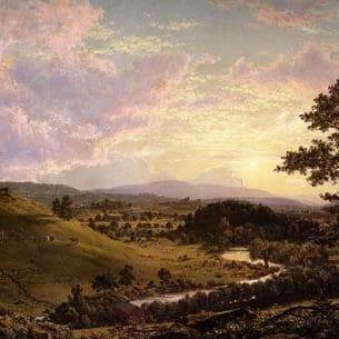 Church, Frederic Edwin – View near Stockbridge, Mass Oil Painting Reproductions