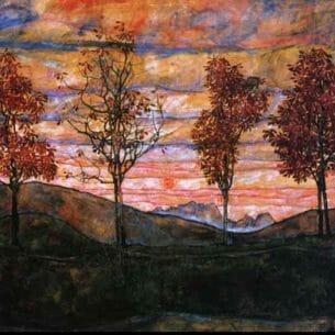 Egon Schiele – Four Trees Oil Painting Reproductions
