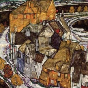 Egon Schiele – Island Town Oil Painting Reproductions