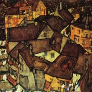 Egon Schiele – Krumau Town Crescent I Oil Painting Reproductions