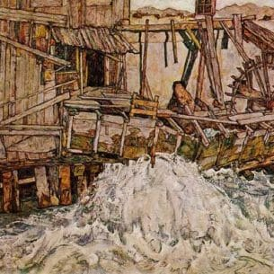 Egon Schiele – The Mill Oil Painting Reproductions