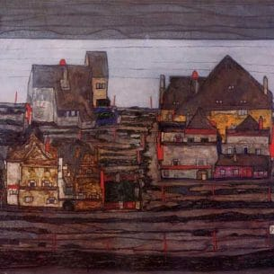 Egon Schiele – Vorstadt I Oil Painting Reproductions