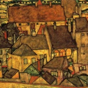 Egon Schiele – Yellow City Oil Painting Reproductions