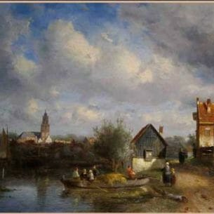Charles Leickert: Holland Landscape Oil Painting Reproductions