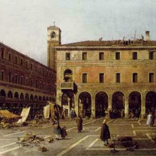Canaletto(Italy): The Campo di Rialto Oil Painting Reproductions