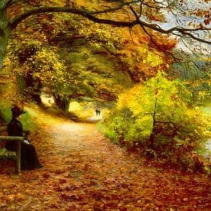 Brendekilde, Hans Anderson: A Wooded Path In Autumn