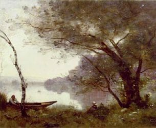 Corot, Jean-Baptiste-Camille: The Boatman of Mortefontaine Oil Painting Reproductions