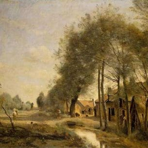 Corot, Jean-Baptiste-Camille: The Sin-le-Noble Road near Douai