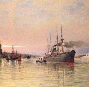Dommelshuizen, Cornelis Christiaan(Holland): A View Of New York Harbor Oil Painting Reproductions