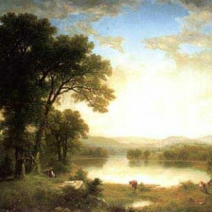 Asher B. Durand – Picnic in the Country Oil Painting Reproductions