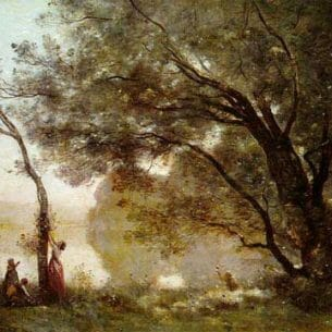 Corot, Jean-Baptiste-Camille: Memory of Montefontaine Oil Painting Reproductions