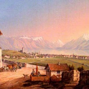Bleuler, Ludwig(Switzerland): View of Vevey and its Surroundings Oil Painting Reproductions