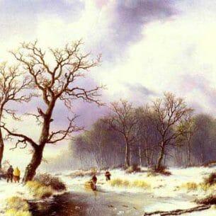 Bodemann, Willem(Holland): A Winter Landscape