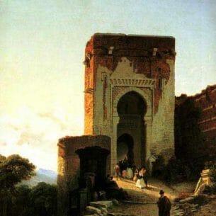 Bossuet, François Antoine(Belgium): Porte de Justice, Alhammbra, Granada Oil Painting Reproductions