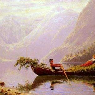 Dahl, Hans(Norway): The_Fjord Oil Painting Reproductions