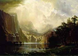 Bierstadt, Albert (USA): Among the Sierra Nevada Mountains, California Oil Painting Reproductions