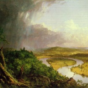 Cole, Thomas(USA): View from Mount Holyoke,  Northampton, Massachusetts, after a Thunderstorm(The Oxbow) Oil Painting Reproductions