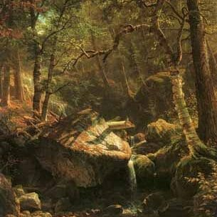 Bierstadt, Albert(USA): The Mountain Brook Oil Painting Reproductions