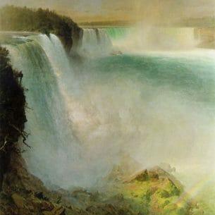 Church, Frederic Edwin(USA): Niagara Falls, from the American Side