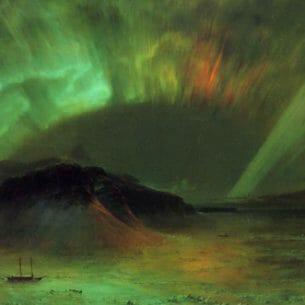 Church, Frederic Edwin(USA): Aurora Borealis Oil Painting Reproductions