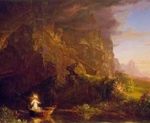 Cole, Thomas(USA): The Voyagae of Life – Childhood Oil Painting Reproductions