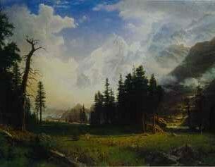 Bierstadt, Albert (USA): The Morteratsch Glacier, Upper Engadine Valley, Pontresina Oil Painting Reproductions