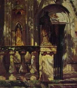 Bierstadt, Albert(USA): Sunlight and Shadow:Study