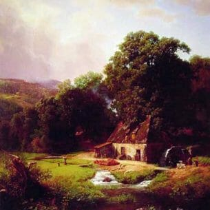 Bierstadt, Albert(USA): The Old Mill Oil Painting Reproductions