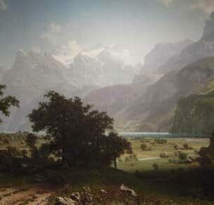 Bierstadt, Albert(USA): Lake Lucerne(Switzerland) Oil Painting Reproductions
