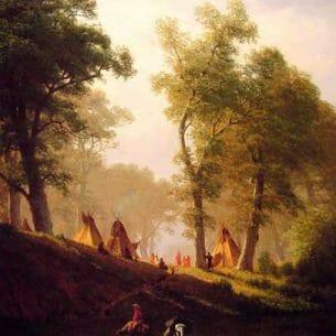 Bierstadt, Albert(USA): The Wolf River,Kansas Oil Painting Reproductions