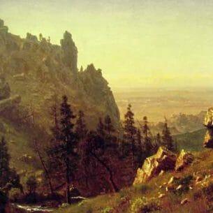 Bierstadt, Albert(USA): Wind River Country