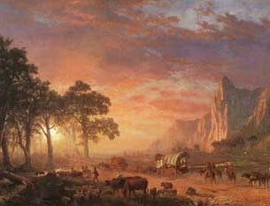 Bierstadt, Albert(USA): The Oregon Trail Oil Painting Reproductions