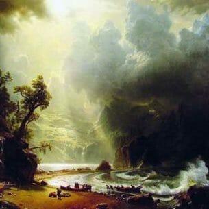 Bierstadt, Albert(USA): Puget Sound, on the Pacific Coast