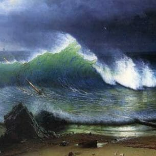 Bierstadt, Albert(USA): The Shore of The Turquoise Sea Oil Painting Reproductions