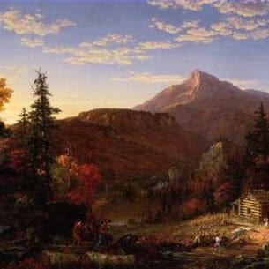 Cole, Thomas – The Hunter's Return Oil Painting Reproductions