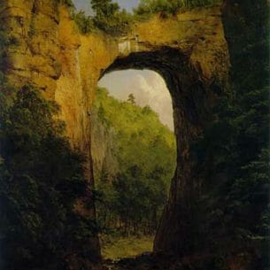 Church, Frederic Edwin(USA): The Natural Bridge, Virginia Oil Painting Reproductions