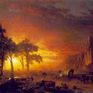 Bierstadt, Albert(USA): Emigrants Crossing the Plains Oil Painting Reproductions