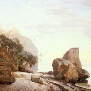 Bartholin La Cour, Janus Andreas(Danmark):Rocks Along the Shore