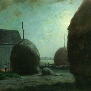 Dwight W. Tryon – Newbury Haystacks in Moonlight Oil Painting Reproductions