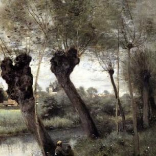 Corot, Jean-Baptiste-Camille – Willows on the Banks of the Scarpe