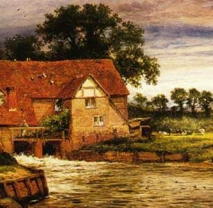 Benjamin Leader – Old Streatley Mill Oil Painting Reproductions