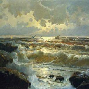 Edward Moran – Homeward Bound Oil Painting Reproductions