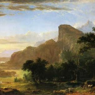 Asher B. Durand – Scene from Thanatopsis Oil Painting Reproductions