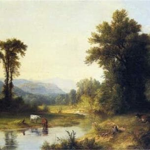 Asher B. Durand – Summer Stream Oil Painting Reproductions