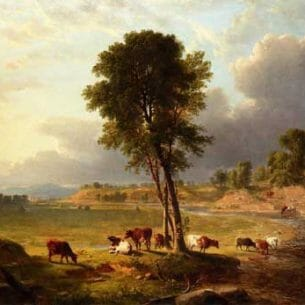 Asher B. Durand – View in the Catskills Oil Painting Reproductions