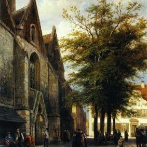 Cornelius Springer – St. Joseph's Church in Hamelen Oil Painting Reproductions