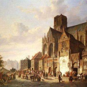 Cornelius Springer – View of Montelspran Oil Painting Reproductions