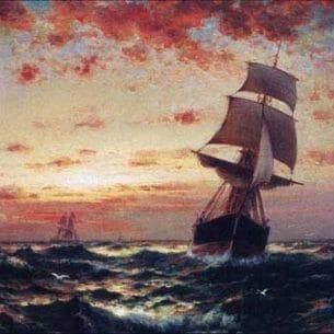 Edward Moran – Ships at Sea