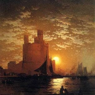 Edward Moran – Moonlit Scene Oil Painting Reproductions