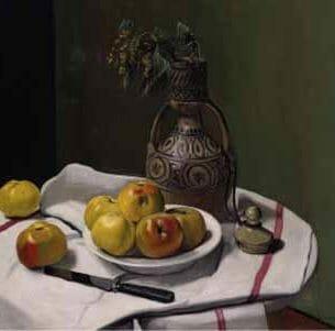 Cecil Windsor Aldin – Apples and a Moroccan Vase